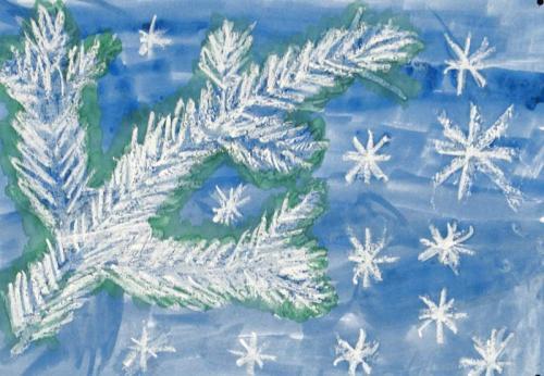Dezember - Tannenzweig im Winter