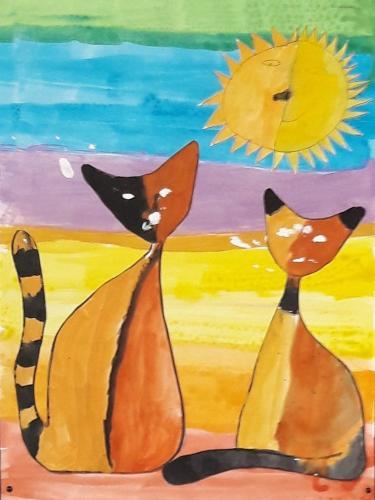 März - Katzen nach Rosina Wachtmeister