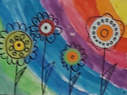 April - Blumenwiese nach Kandinsky