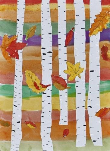 Oktober - Birken im Herbst