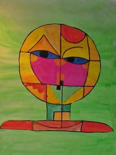 nach P. Klee - Senecio 1