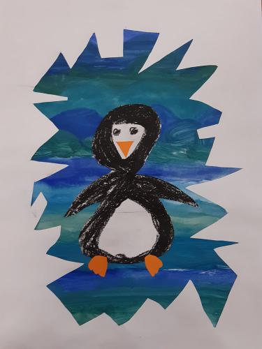 Januar - Pinguin im Eismeer